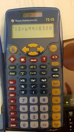 Lot of 2 Texas Instruments TI-15 2-Line Solar Explorer Scientific Calculator