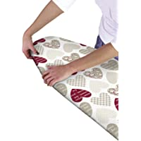 Country Club Multi Fit Elasticated Ironing Board Cover, Hearts