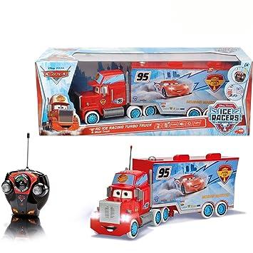 Disney Cars RC ICE Racing Turbo Mack Truck, 3-canal de mando a distancia, 46 cm - coche de carreras teledirigido eléctrico juegos convincentes: Amazon.es: ...