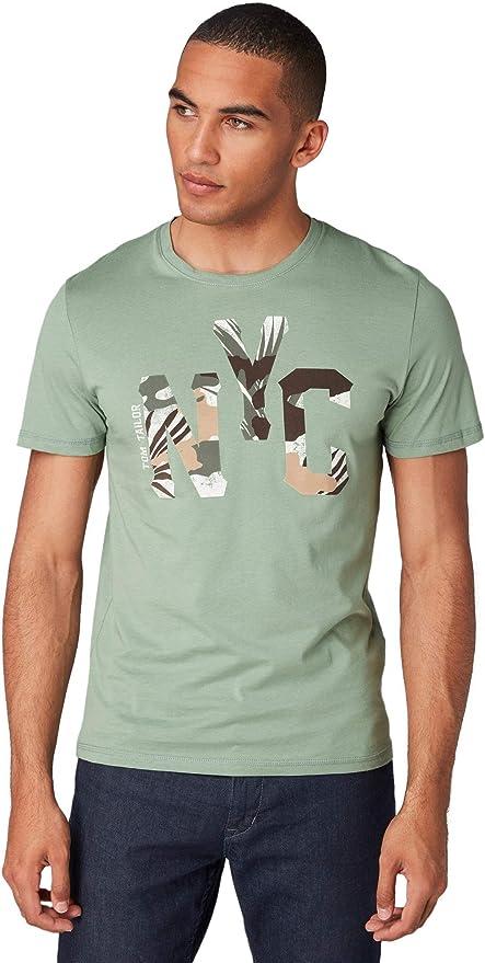 Tom Tailor Casual 1009897 Camiseta, Verde (Light Summer Olive 16337), Medium para Hombre: Amazon.es: Ropa y accesorios