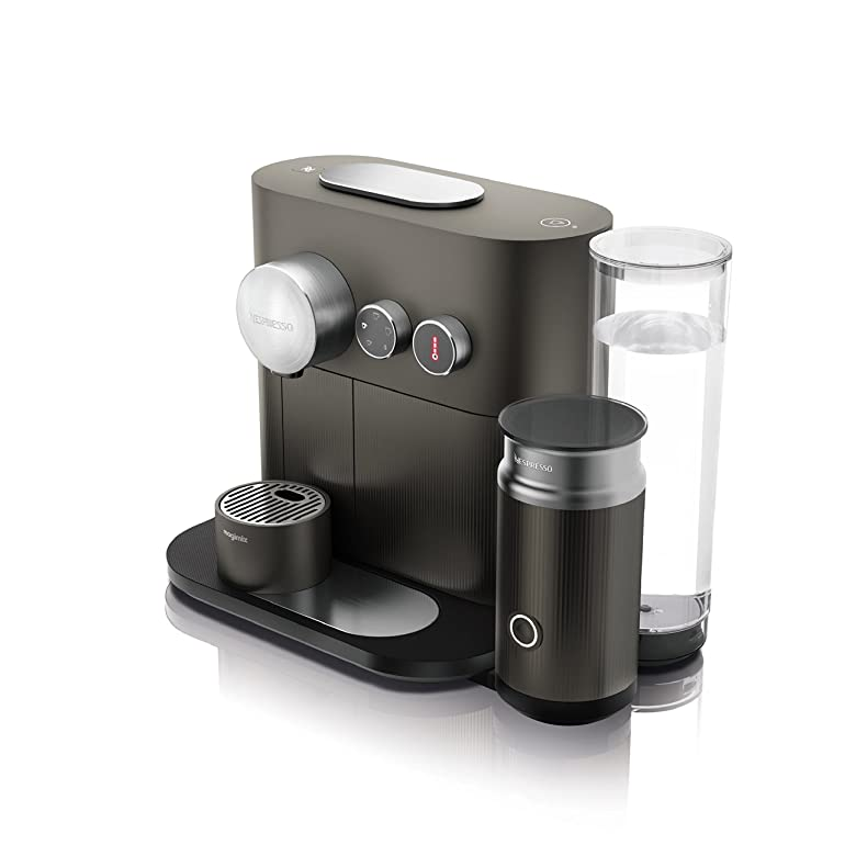 Nespresso Expert and Milk Coffee Machine, Anthracite Grey by ...