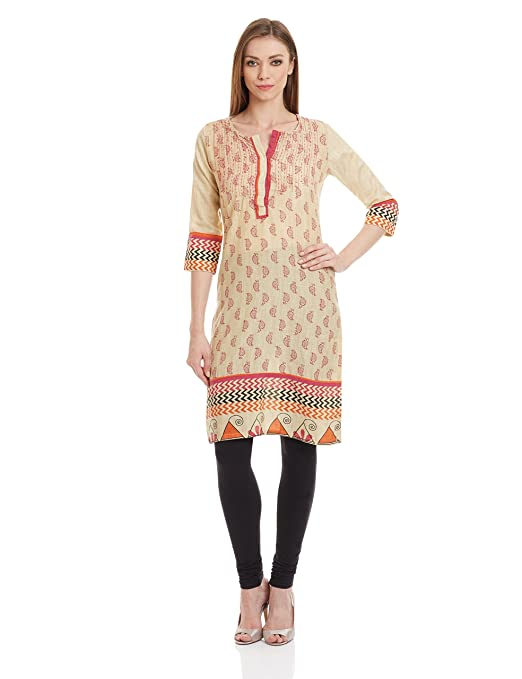 Rangriti Women's Straight Kurta Kurtas at amazon