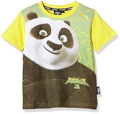 ad68c9b23 DreamWorks Boys' T-Shirt Kung Fu Panda, Yellow, 3: Amazon.co.uk ...