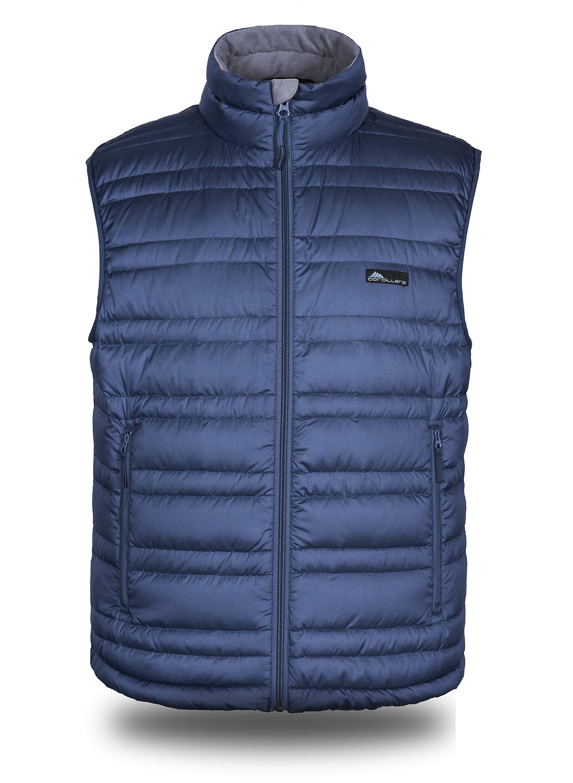 Cordillera Men's Lightweight Down Vest (Dress Blue, XXL) by Cordillera