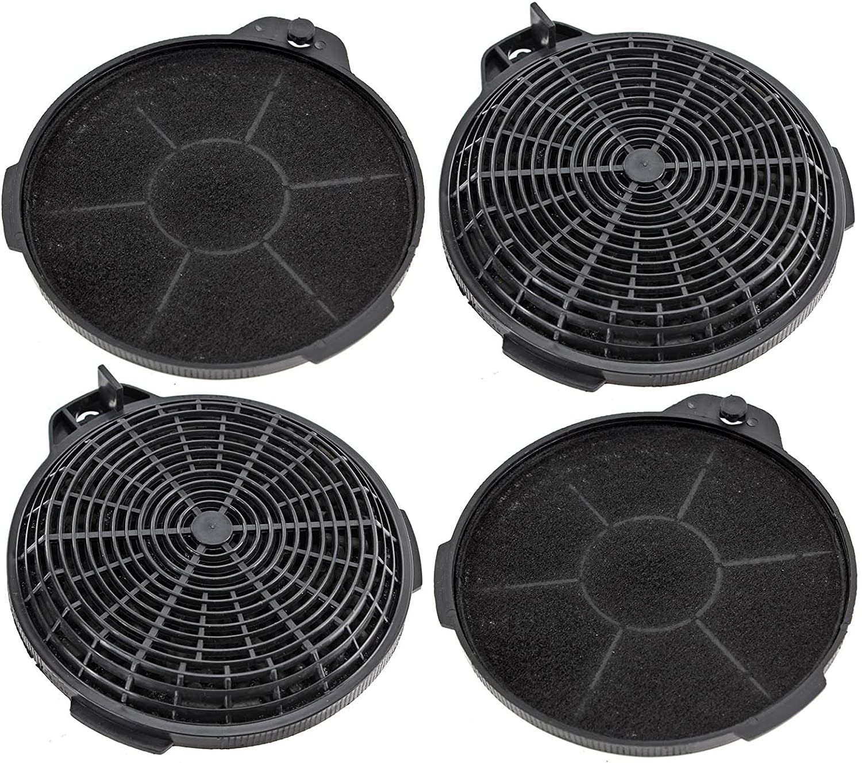 Spares2go Carbón Carbón Ventilación Filtro para Cooke & Lewis Cocina Campana de extracción (Pack de 4): Amazon.es: Hogar