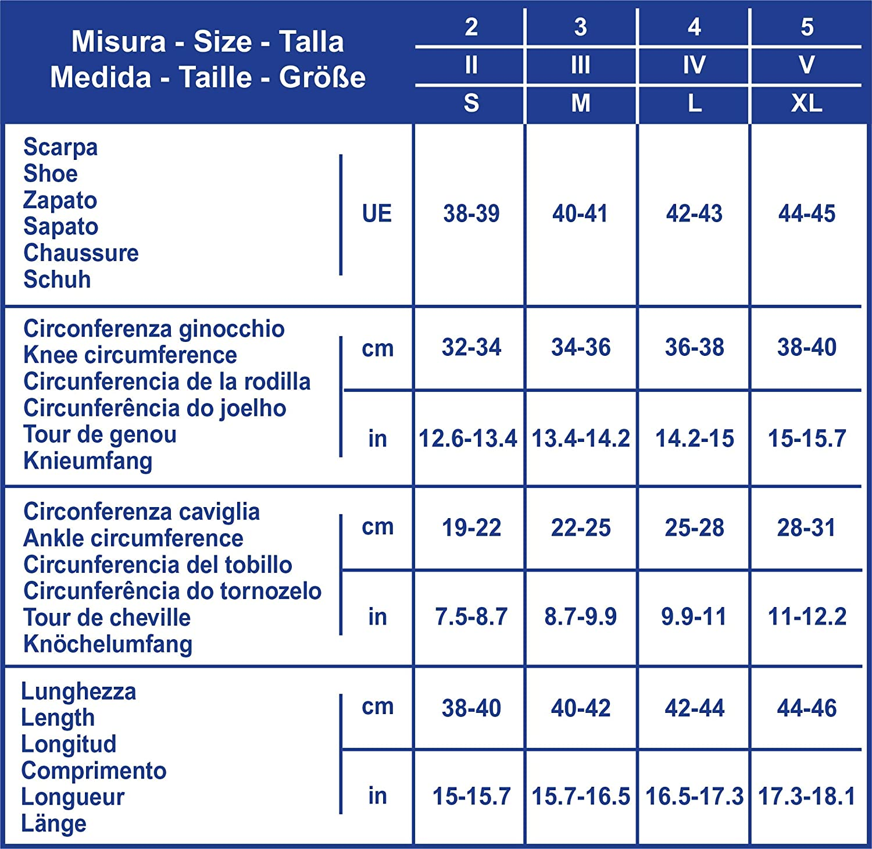 SCUDOTEX Mi-Bas pour Homme 280 Deniers Grand Repos Cotton /à Compression D/écroissante Moyenne 18-21 Hg mm Couleur Marron Taille 3
