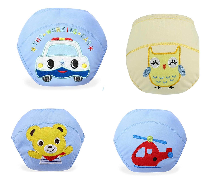 Bebedou 4confezioni adorabile bambino vasino medio per ragazzi e ragazze, per bambini dai 9mesi ai 3anni per bambini, in puro cotone bambino WC vasino con 3strati in vita 35cms