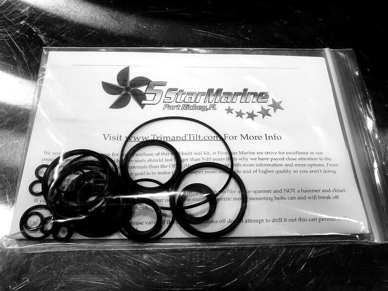 FiveStar Marine Rebuild Kit! Johnson Evinrude OMC Trim /& Tilt O-Ring /& Seal Kit 434519 0434519