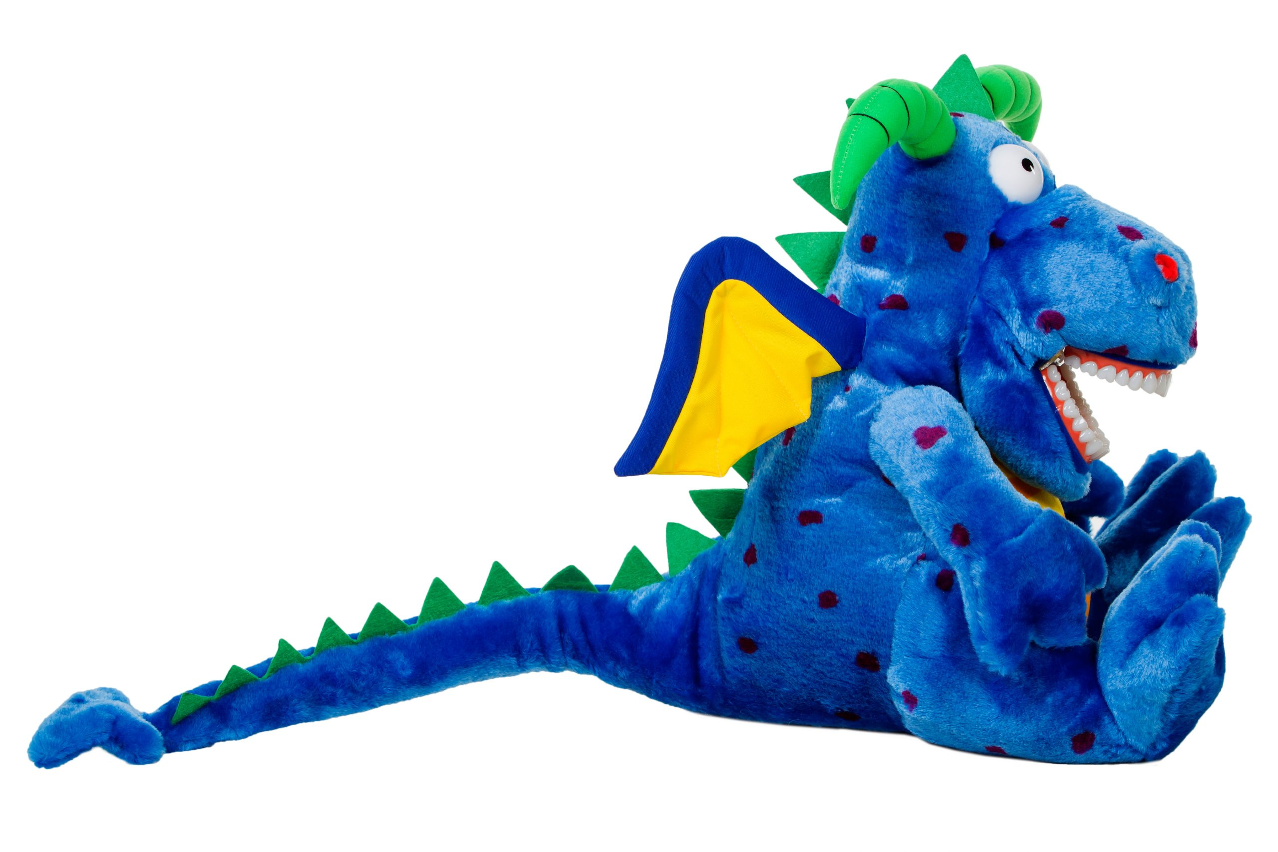 Oral Health Presentation Puppet Magi Dragon Educational Plush by StarSmilez (Image #1)