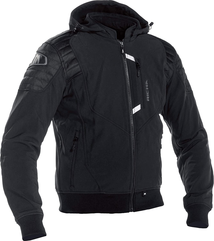 Richa Atomic Waterproof Textile Casual Look D30 Motorcycle Jacket Black S