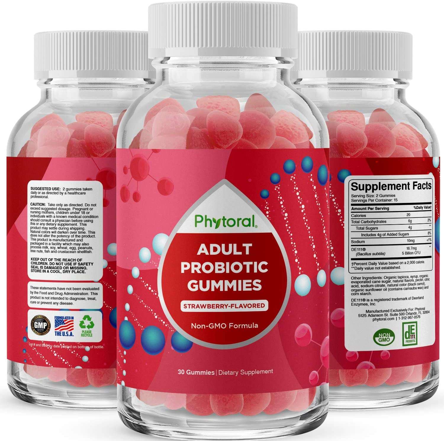 Healthy Gut Probiotic Gummies for Adults