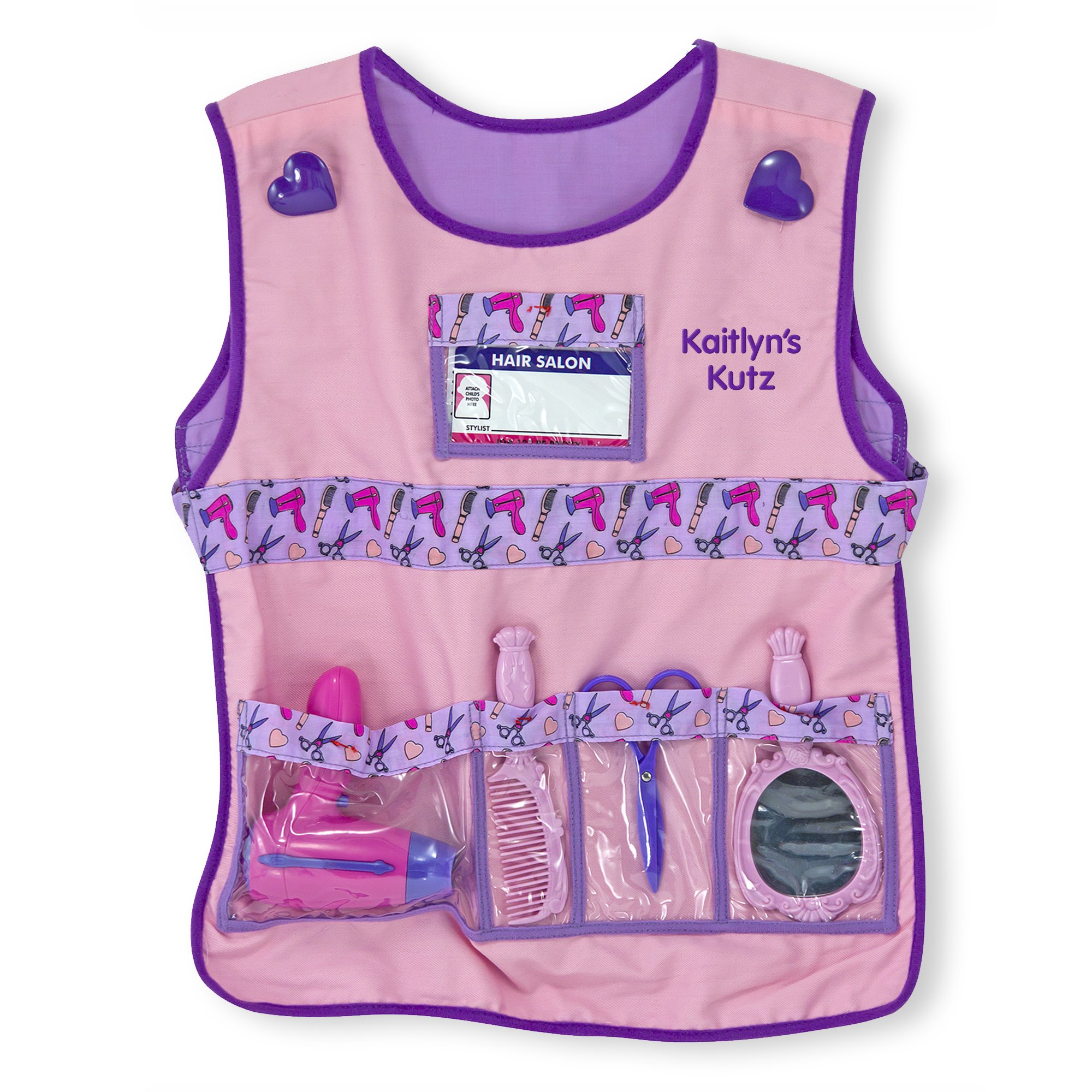 Melissa & Doug Personalized Hair Stylist Role Play Costume Dress Up Set (7 Pieces)