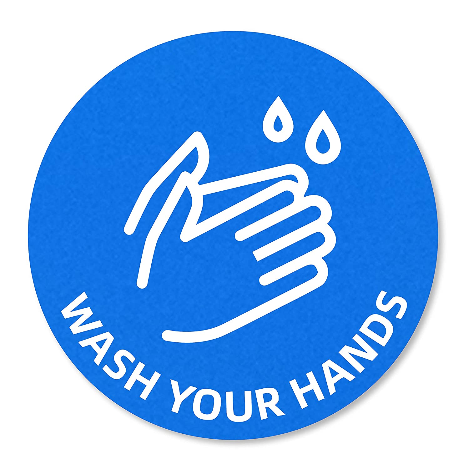 Wash Your Hands Sign Stickers, 10 Pack 6x6 inches Signage, Waterproof, Grease Proof, Fade Resistant, Easy Application, Strong Stick Stickers