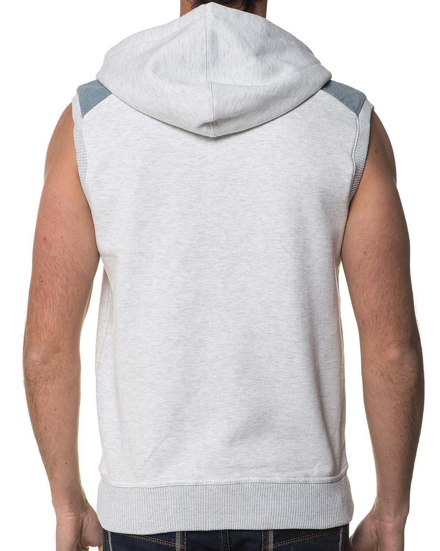74480447e28 Voi Jeans Sweat Sans Manches A Capuche Homme - Couleur   Gris Taille   XL   Amazon.fr  Vêtements et accessoires