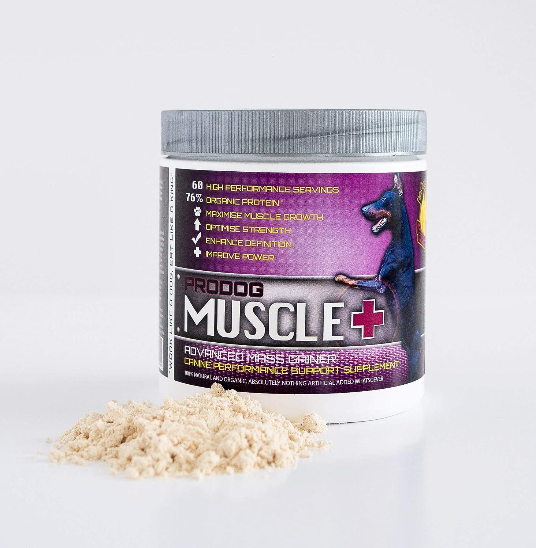 ProDog Nutrition Muscle+   Ganador de masa de peso natural y orgánico para perros