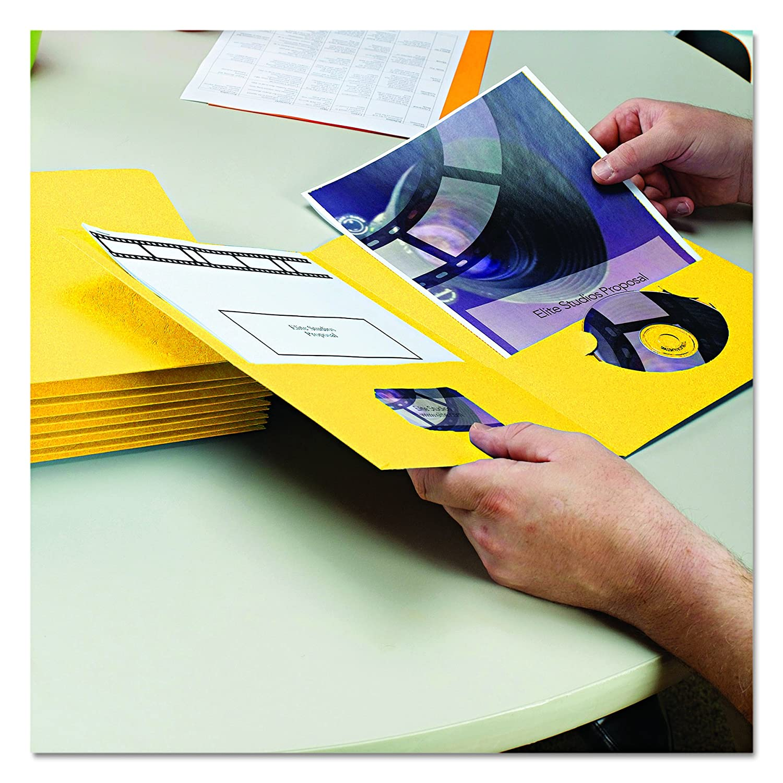 Letter Size Smead Two-Pocket Heavyweight Folder White 87861 25 per Box