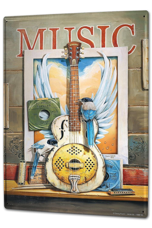 Cartel Letrero de Chapa XXL Cine G. Huber Música Guitarra ...