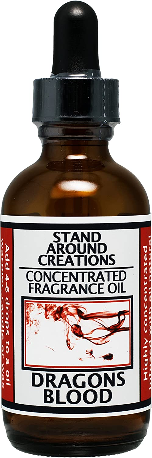 Concentrated Fragrance Oil - Dragon's Blood - A potent earthy scent w/cedarwood, orange and patchouli essential oils w/sweet and spicy notes. Made with natural essential oils.(2 fl.oz.)