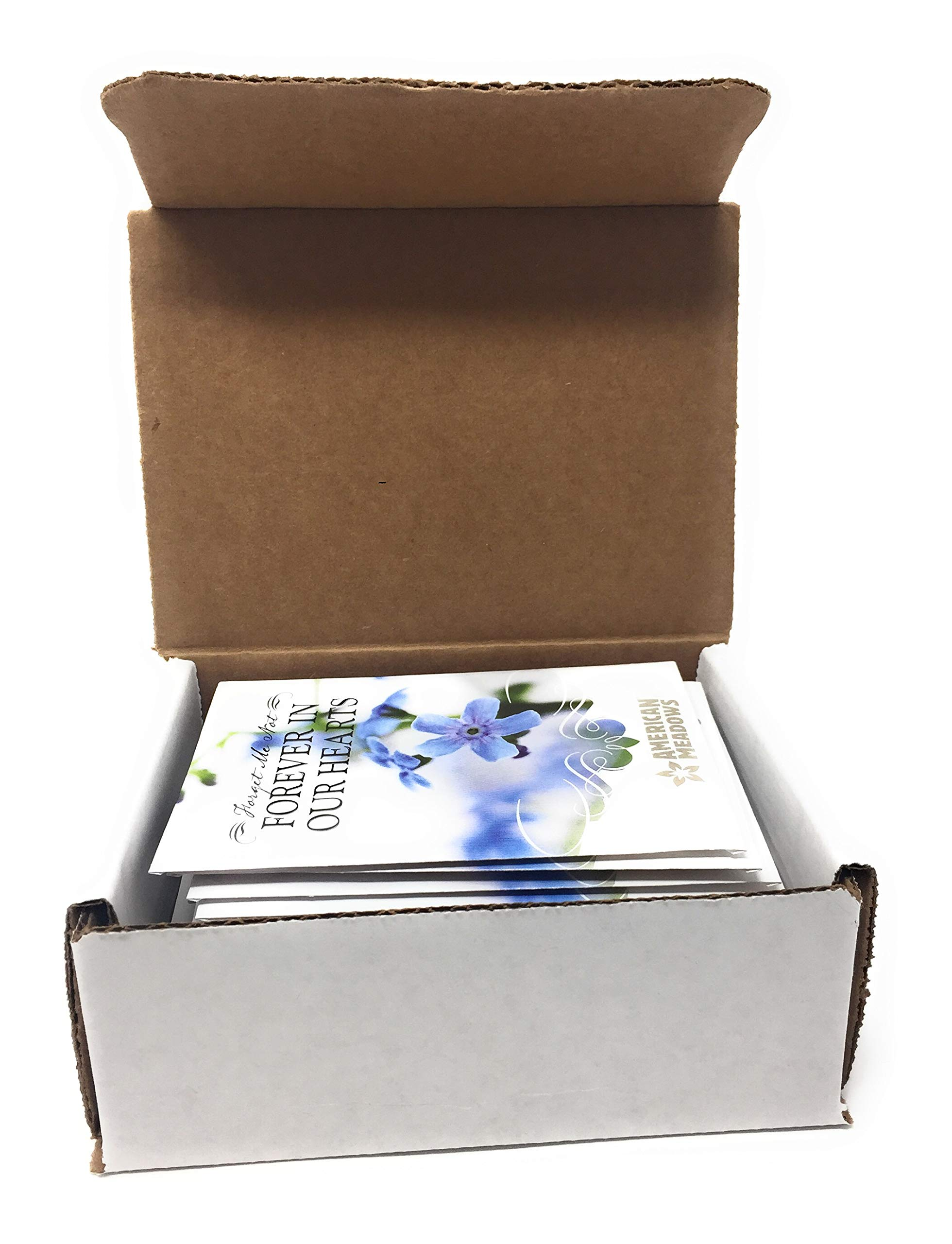 Forever in Our Hearts - Individual Forget Me Not Flower Seed Packet Favors - Ready to Give - Pack of 20 by American Meadows (Image #3)