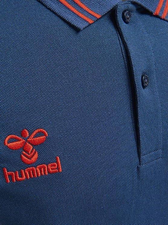 Hummel Classic Bee Noah Pique Polo–polo–Bandes d'entraînement manches courtes Homme Jacquard à col et élastique–avec fente à coutures latérales div. couleurs S SARGASSO SEA gIYRv6nrm