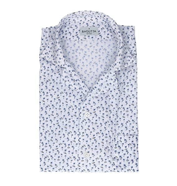 finest selection 8fbcd 30c9c Bagutta Camicia Uomo MAUIEM09267652 Cotone Bianco: Amazon.it ...
