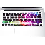 Funut MacBook Keyboard Cover Dust-Proof Silicone Keyboard Protector for MacBook Pro 13 15 17 with or Without Retina Display, 2015 or Older Version iMac and Air 13, Nebula