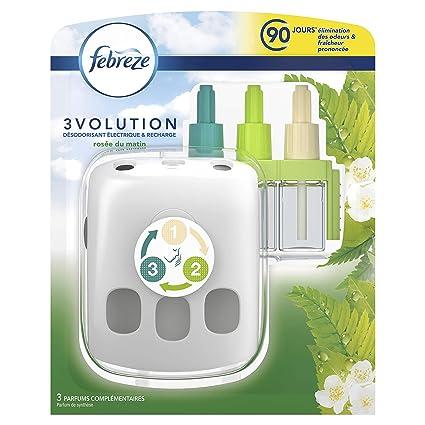 Febreze 3 Volution Kit De Demarrage Desodorisant Electrique Rosee Du