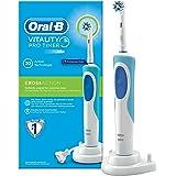 Oral-B Vitality Elektrische Zahnbürste, mit Timer und Cross Action Aufsteckbürste, weiß/blau