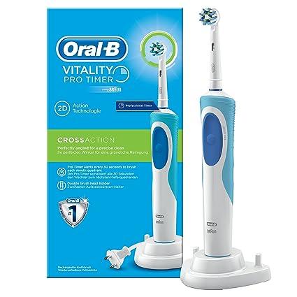 Oral-B 610120 - Cepillo de dientes eléctrico de rotación, color blanco y azul