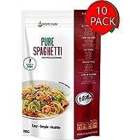 PureSpaghetti Konjac - Spaghetti Senza Glutine 10-pack 200 grammi | Pasta Gluten Free Di Glucomannano | Fatto con Farina Senza Glutine | Ideali Per Celiaci, Diabetici E Per Dimagrire | Cibo Vegano
