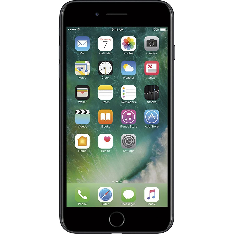 b62a09919 Apple iPhone 7 Plus, GSM Unlocked, 32GB - Black (Renewed)