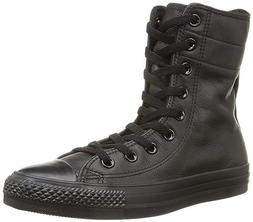 47c121511df650 Converse. Men. . all star hi rise leather. black (black monochrome)