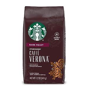 Starbucks Dark Roast Whole Bean Coffee — Caffè Verona — 100% Arabica — 1 bag (12 oz.)