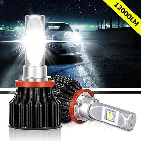 CREE XHP50 - Faros delanteros con bombillas LED para coche, 12000 lúmenes, 6000 K