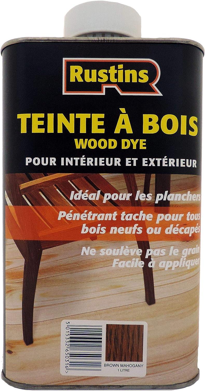 Rustins 5015332650309 - Tinte para madera (caoba marrón)