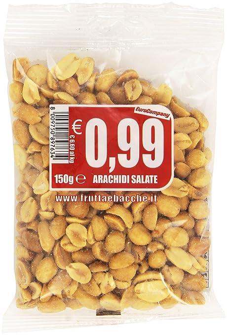 23 opinioni per Eurocompany- Arachidi salate- 11 pezzi da 150 g [1650 g]