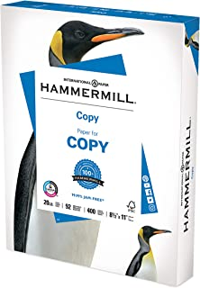 product image for Hammermill Printer Paper, 20 lb Copy Paper, 8.5 x 11 - 1 Small Pack (400 Sheets) - 92 Bright, Made in the USA