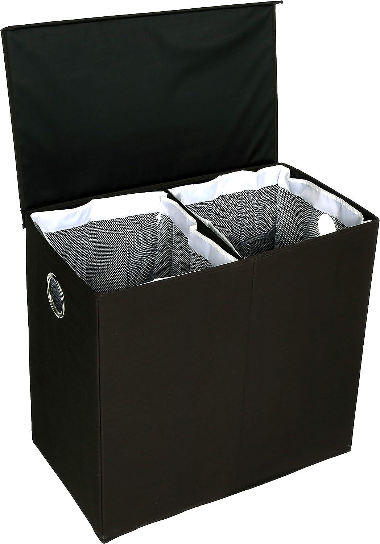 AmazonBasics – Organizador de colada abatible con tapa magnética, Negro: Amazon.es: Hogar