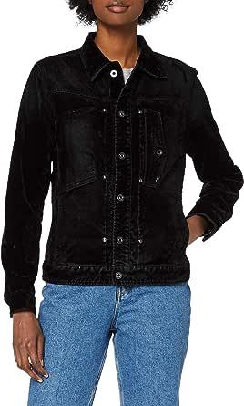 G-Star RAW Women's Utility Slim Jacket Wmn, Black Iced Flock C478-B699