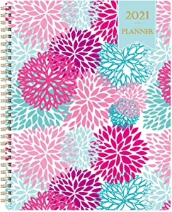 """Planner 2021 - Planner 2021 from Jan 2021- Dec 2021, 7.65"""" x 9.85"""", Weekly & Monthly Layout, to-Do List, Flexible Cover, Strong Twin - Wire Binding, Improving Your Time Management Skill"""