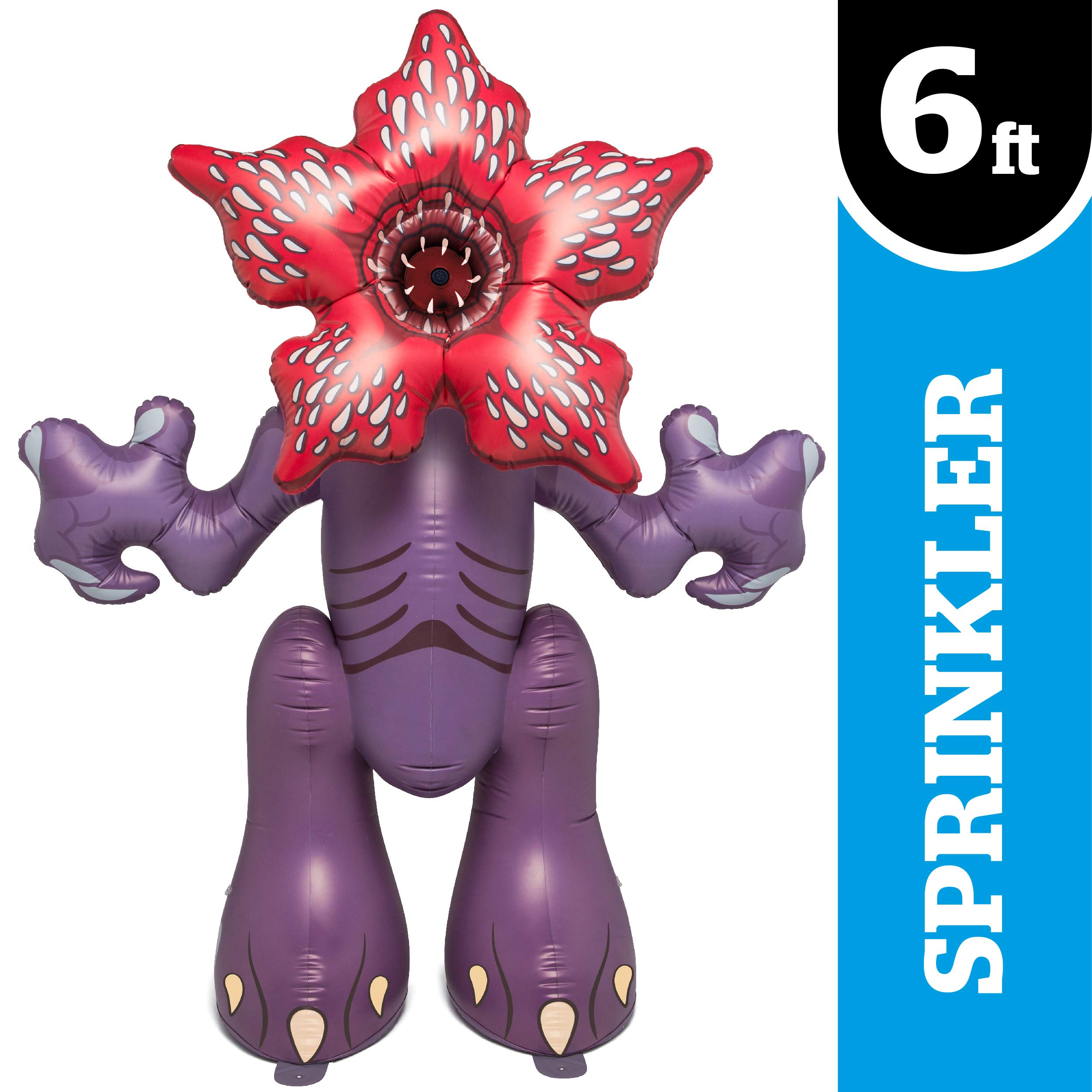 BigMouth Inc. Stranger Things Demogorgon Yard Sprinkler, Huge 6.5 Foot Tall Inflatable Sprinkler with Stranger Things Theme, Easy to Inflate/Deflate and Clean, Makes a Great Gift Idea by BigMouth Inc