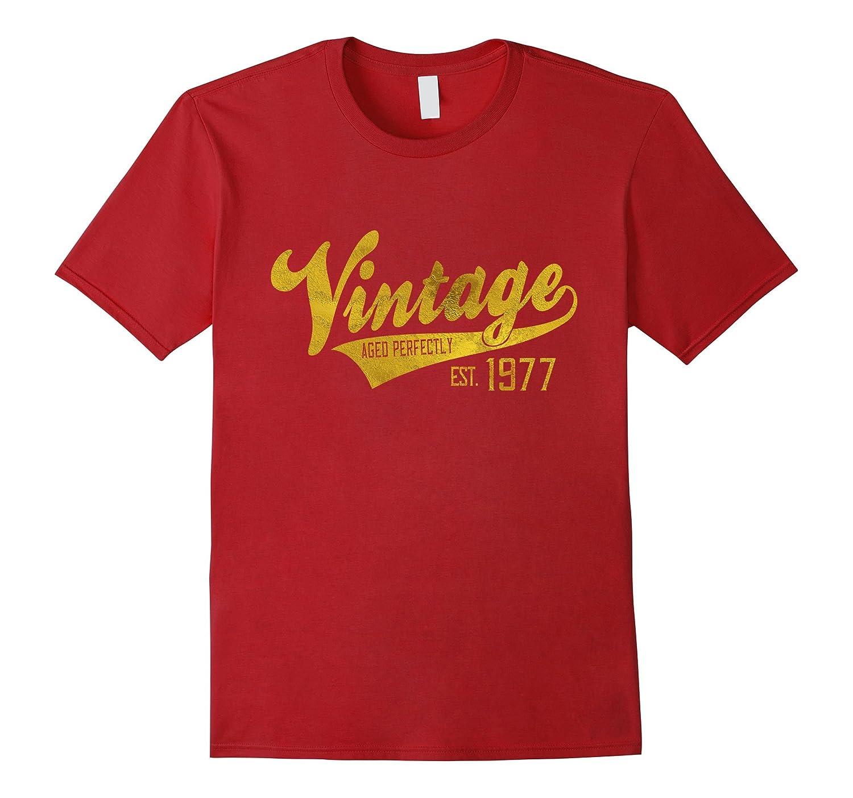 Vintage Est 1977 T Shirt 40 Yrs Old B Day 40th Birthday Gift