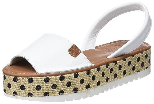 MENORQUINAS POPA Naxos White TAMARINDO, Sandalias con Plataforma para Mujer, Blanco, 38 EU: Amazon.es: Zapatos y complementos