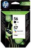 HP 56 Black/57 Tri-color 2-pack Original Ink Cartridges (SA342AE)