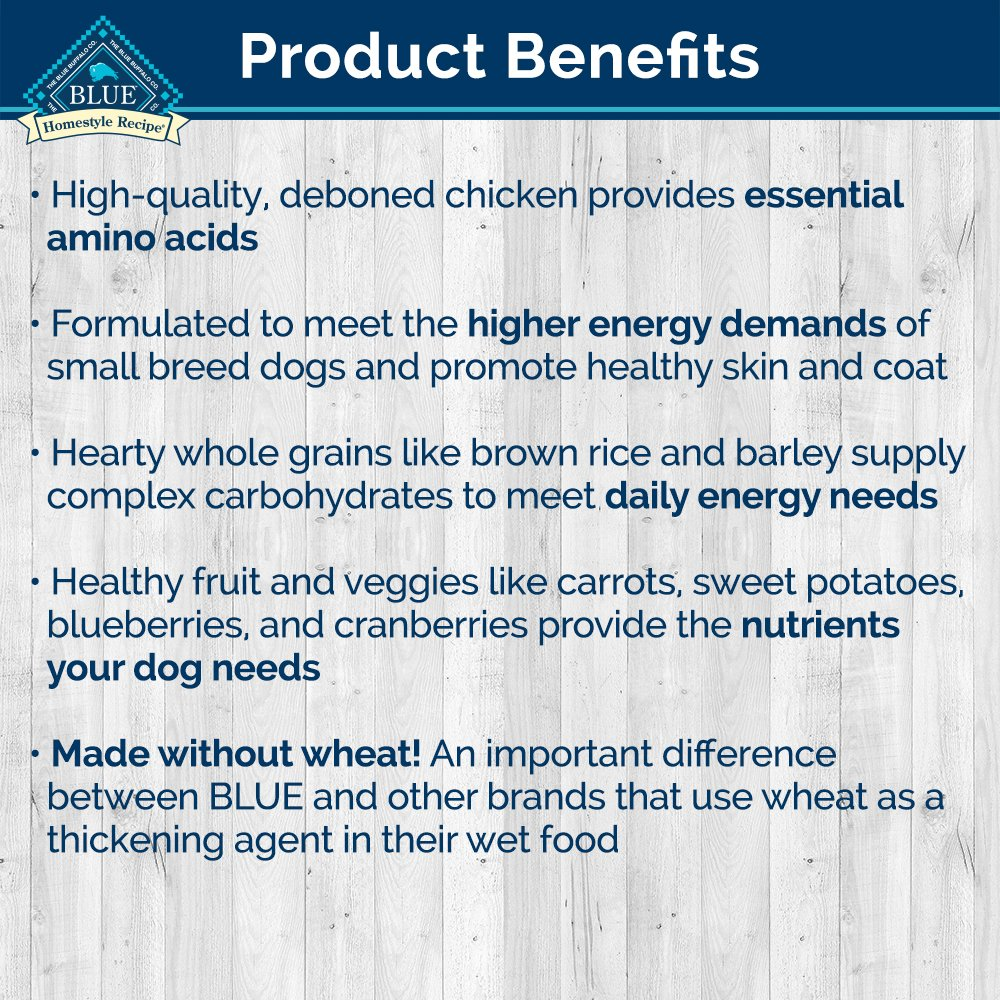 Blue Homestyle Adult Small Breed Chicken Wet Dog Food 5.5-oz (Pack ...