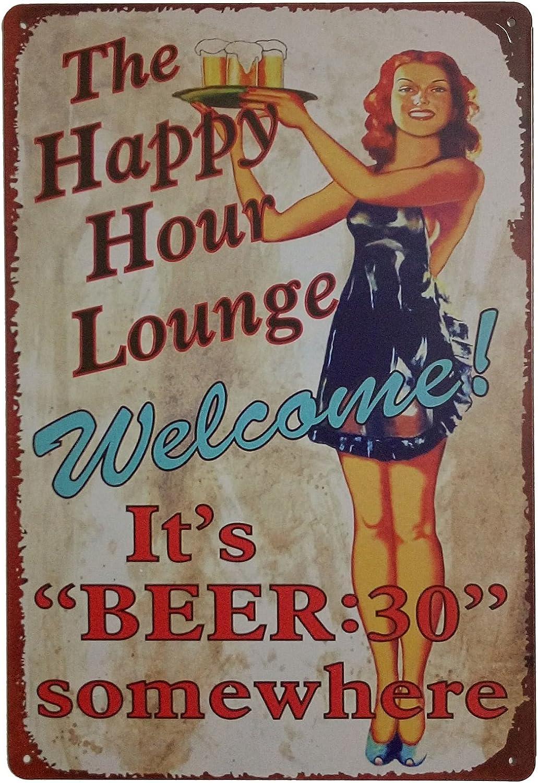 Amazon.com: erlood la cerveza Happy Hour Lounge Bienvenida ...