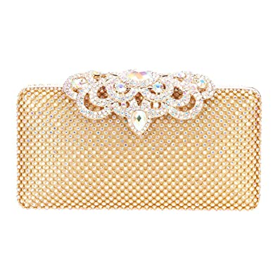 abc1cbb1ff Fawziya Crown Crystal Clutch Hardshell Evening Clutches For Wedding And  Party-AB Gold