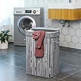 SONGMICS Bamboo Laundry Hamper Storage Basket