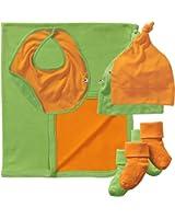 Babysoy O Soy Blanket and Small Accessories Set (Blanket,Bib,2 Socks,2 K. Hats)