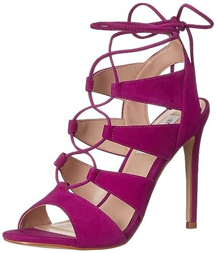 Steve Madden Women's Sandalia Dress Sandal, Purple Nubuck, ...